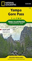 Yampa, Gore Pass trail map