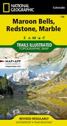 Maroon Bells, Redstone, Marble trail map