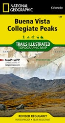 Buena Vista, Collegiate Peaks trail map