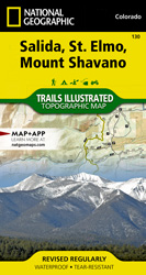 Salida, St. Elmo, Mount Shavano trail map