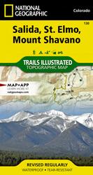 Salida, St. Elmo, Mount Shavano trail map