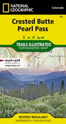 Crested Butte, Pearl Pass trail map