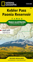 Kebler Pass, Paonia Reservoir trail map