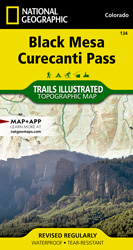 Black Mesa, Curecanti Pass trail map