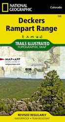 Deckers, Rampart Range trail map