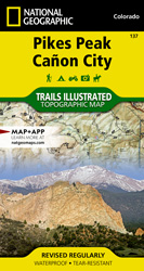 Pikes Peak, Canyon City trail map
