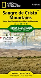 Sangre De Cristo Mountains trail map