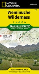 Weminuche Wilderness trail map