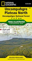 Uncompahgre Plateau North trail map