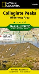 Collegiate Peaks Wilderness Area trail map
