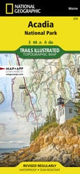 Acadia National Park trail map