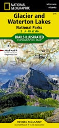 Glacier and Waterton Lakes National Parks trail map
