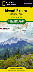 Mount Rainier National Park trail map