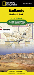 Badlands National Park trail map