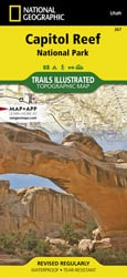 Capitol Reef National Park trail map
