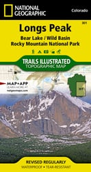 Longs Peak: Rocky Mountain National Park trail map