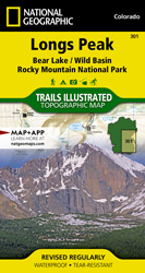 Longs Peak: Rocky Mountain National Park trail map