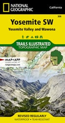 Yosemite Southwest trail map