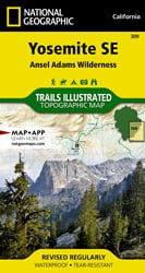 Yosemite Southeast trail map