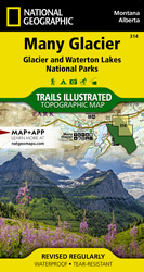 Many Glacier trail map