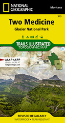 Two Medicine trail map