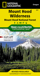 Mount Hood Wilderness trail map