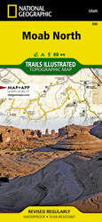 Moab North trail map
