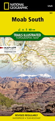 Moab South trail map