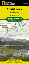 Cloud Peak Wilderness trail map