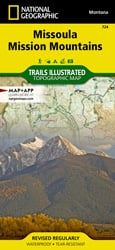 Missoula, Mission Mountains trail map