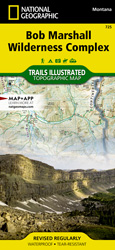 Bob Marshall Wilderness trail map