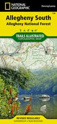 Allegheny South trail map