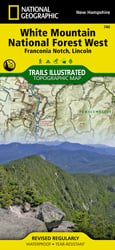 White Mountain National Forest West trail map