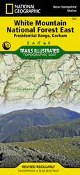 White Mountain National Forest East trail map