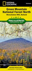 Green Mountain National Forest North trail map