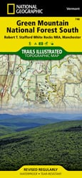 Green Mountain National Forest South trail map