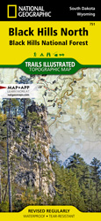 Black Hills North trail map