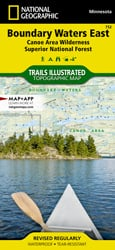 Boundary Waters East trail map