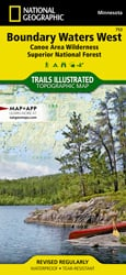 Boundary Waters West trail map