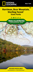 Harriman, Bear Mountain, Sterling Forest State Parks trail map