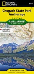 Chugach State Park, Anchorage trail map