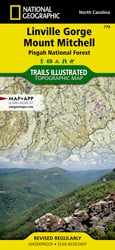 Linville Gorge, Mount Mitchell trail map