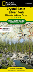 Crystal Basin, Silver Fork trail map