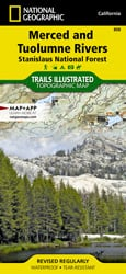 Merced and Tuolumne Rivers trail map