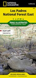 Los Padres National Forest East trail map