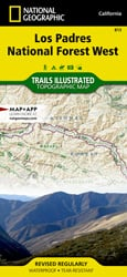 Los Padres National Forest West trail map