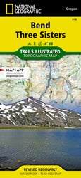 Bend, Three Sisters trail map