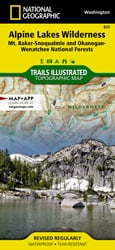 Alpine Lakes Wilderness trail map