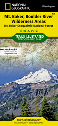 Mt. Baker and Boulder River Wilderness Areas trail map