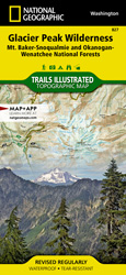 Glacier Peak Wilderness trail map